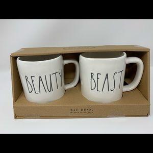 "RAE DUNN ""Beauty"" and ""Beast"" mugs"